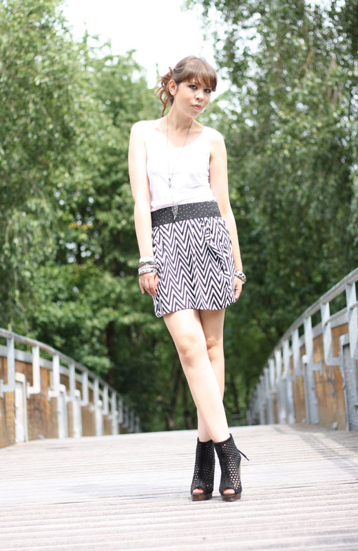 outfit black n white