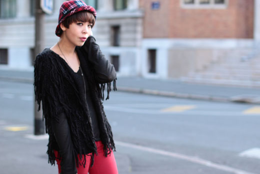 Topshop cardigan and hat