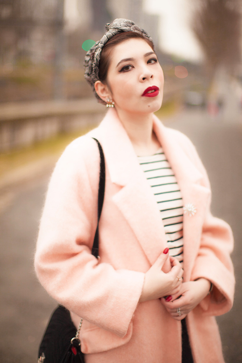 Mango pink coat - Lulla Blog