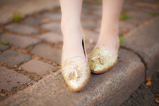 Miu Miu glitter shoes